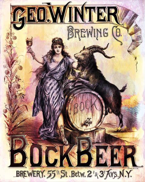 Digital Art - Bock Beer Poster by Carlos Diaz