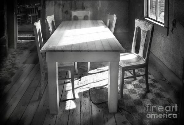 Photograph - Bodie Breakfast Table by Craig J Satterlee