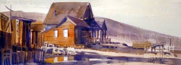Bodie Painting - Bodie California 1979 by Donald Maier