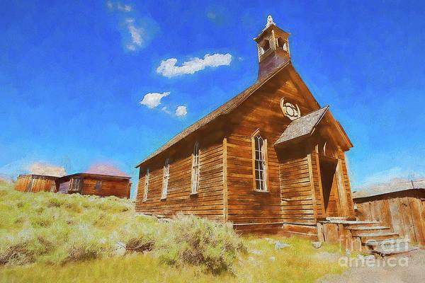 Bodie Painting - Bodie California Ghost The Old Methodist Church Ap by Dan Carmichael