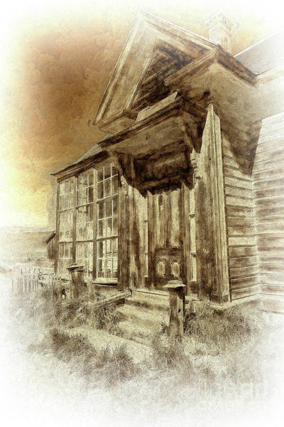 Bodie Ghost Town Wall Art - Photograph - Bodie California Ghost Town Old House Bw by Dan Carmichael
