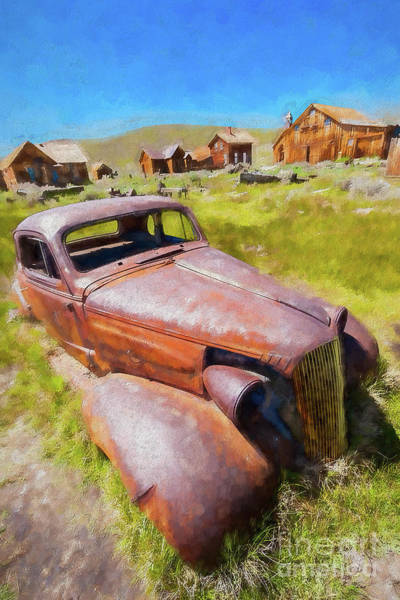 Bodie Painting - Bodie California Ghost Town The Old Car Ap by Dan Carmichael