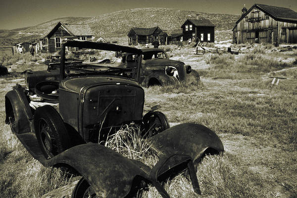 Photograph - Bodie Ghost Town California - Vintage Photo Art Print by Peter Potter