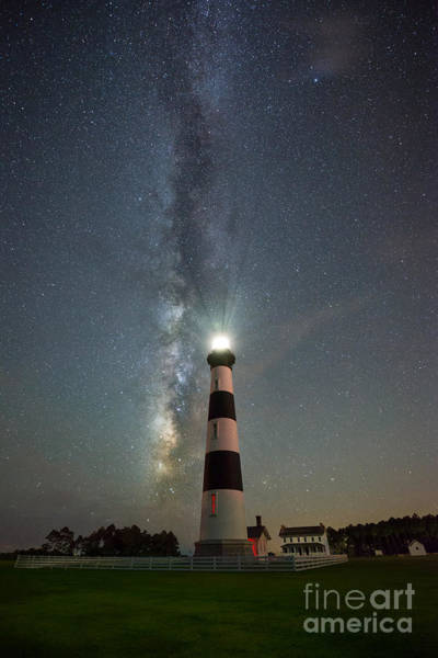 Bodie Wall Art - Photograph - Bodie Island Light Milky Way Portrait by Michael Ver Sprill