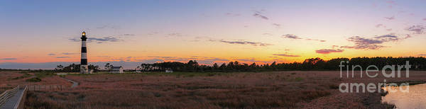 Wall Art - Photograph - Bodie Island Light Sunset Panorama  by Michael Ver Sprill