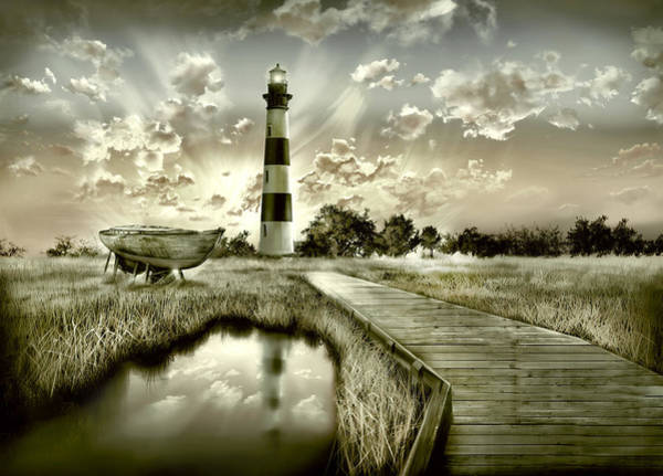 Wall Art - Painting - Bodie Island Lighthouse 3 by Bekim M