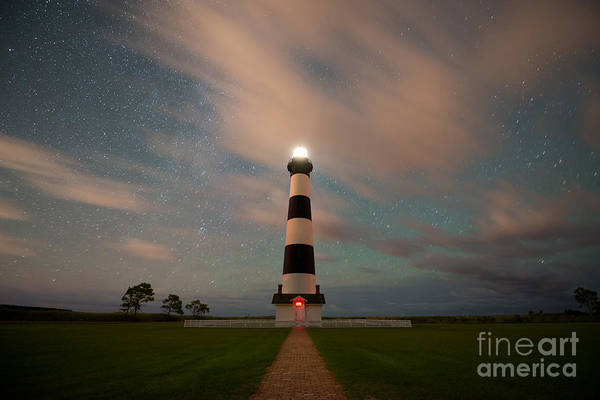 Bodie Wall Art - Photograph - Bodie Island Lighthouse Dreamy Night by Michael Ver Sprill