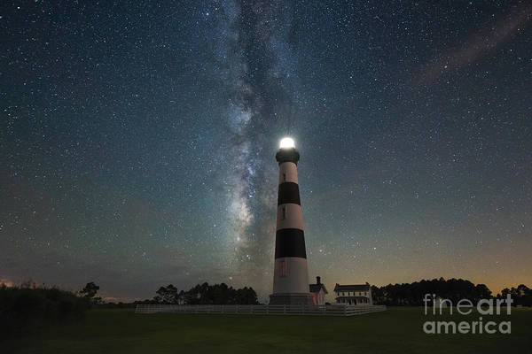 Bodie Photograph - Bodie Island Lighthouse Milky Way by Michael Ver Sprill