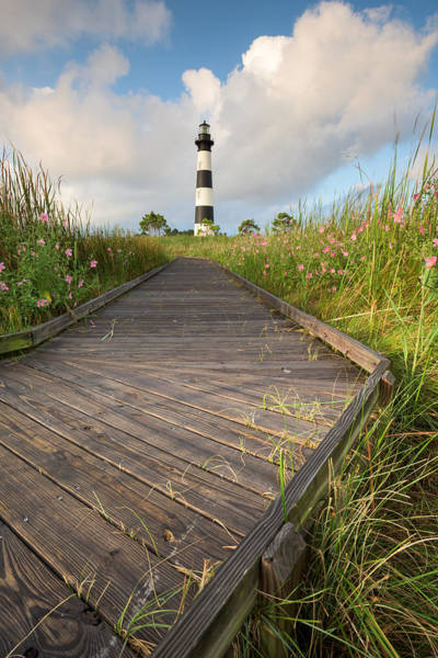 Virginia Lighthouse Photograph - Bodie Island Lighthouse Nc Outer Banks Cape Hatteras National Seashore by Mark VanDyke