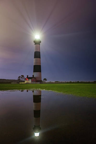 Photograph - Bodie Island Lighthouse Reflection by Dennis Sprinkle