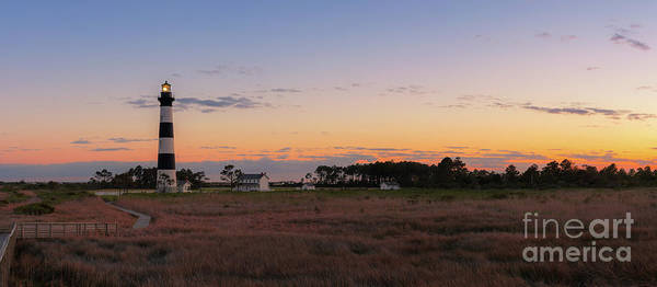 Wall Art - Photograph - Bodie Island Lighthouse Sunset Pano by Michael Ver Sprill