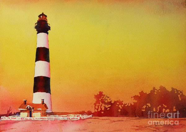 Bodie Painting - Bodie Island Lighthouse Sunset by Ryan Fox