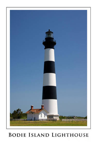 Photograph - Bodie Island Lighthouse With Text by Jill Lang