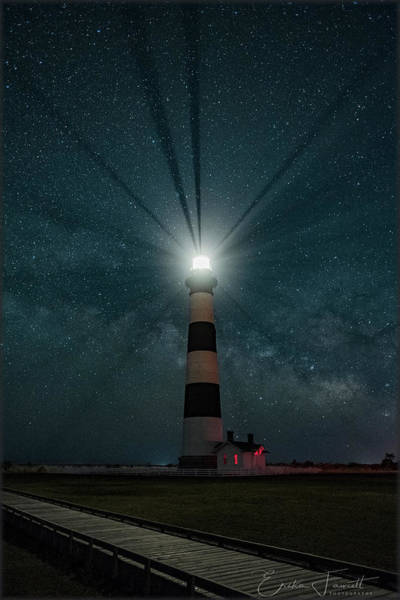Photograph - Bodie Island Milkyway by Erika Fawcett