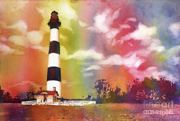 Bodie Painting - Bodie Island Sunset- North Carolina Outer Banks  by Ryan Fox