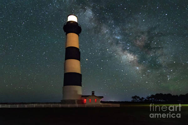 Wall Art - Photograph - Bodie Lighthouse Milky Way by Norma Brandsberg