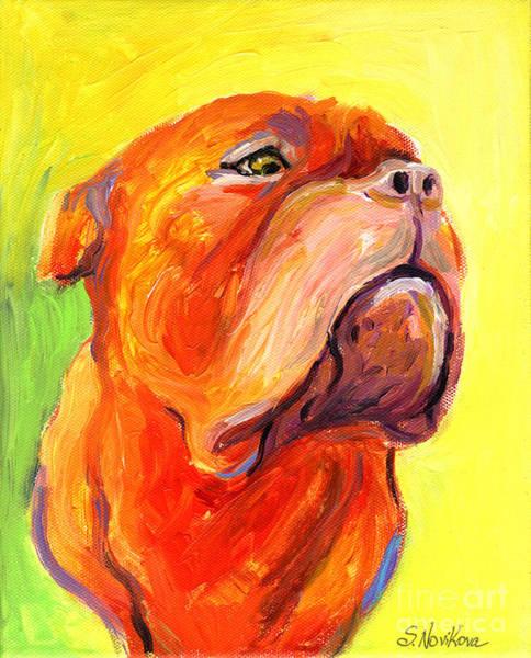Painting - Bodreaux Mastiff Dog Painting by Svetlana Novikova