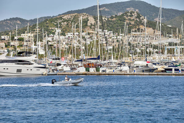 Wall Art - Photograph - Bodrum Marina Turkey by David Pyatt