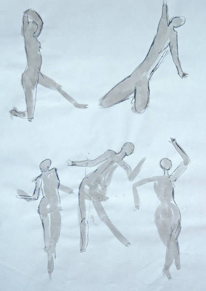 Body Sketches Art Print
