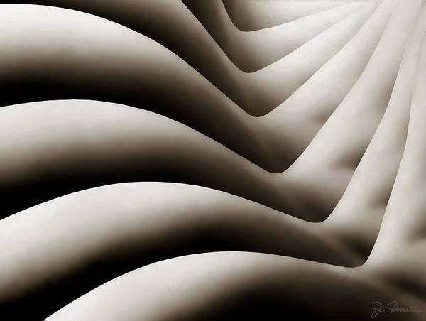 Female Nude Digital Art - Bodywaves by Joe Bonita