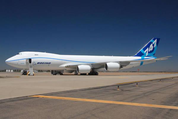 747 Photograph - Boeing 747-8 N50217 At Phoenix-mesa Gateway Airport by Brian Lockett