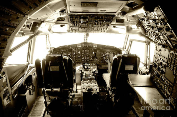 Wall Art - Photograph - Boeing 747 Cockpit 21 by Micah May