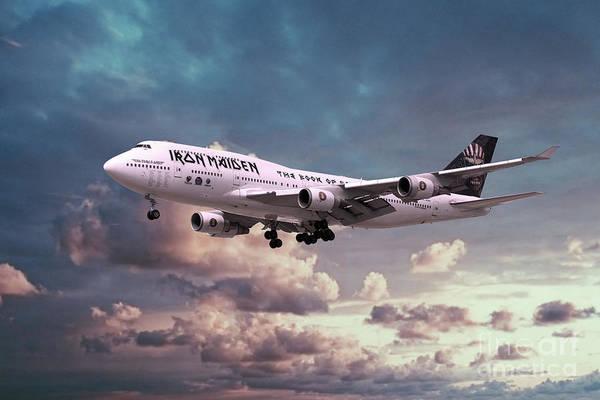 Iron Maiden Wall Art - Digital Art - Boeing 747 Ed Force One by J Biggadike