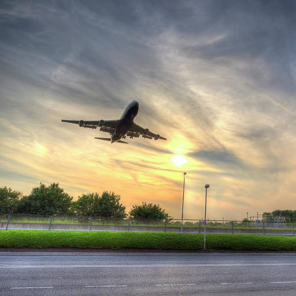 Wall Art - Photograph - Boeing 747 Sunset Landing by David Pyatt