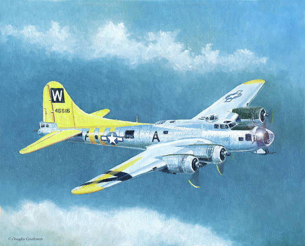 Painting - Boeing B-17g Flying Fortress by Douglas Castleman