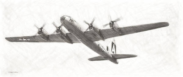 Digital Art - Boeing B-29a Superfortress Drawing by Douglas Castleman