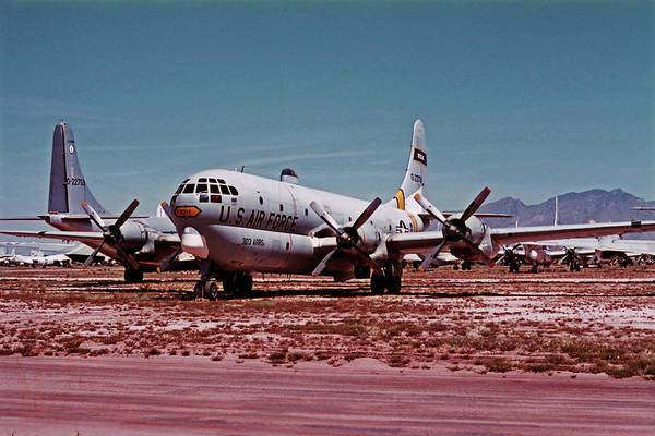 Wall Art - Photograph - Boeing Hc-97g Statofreighter 52-2714 At Masdc April 24 1972 by Brian Lockett