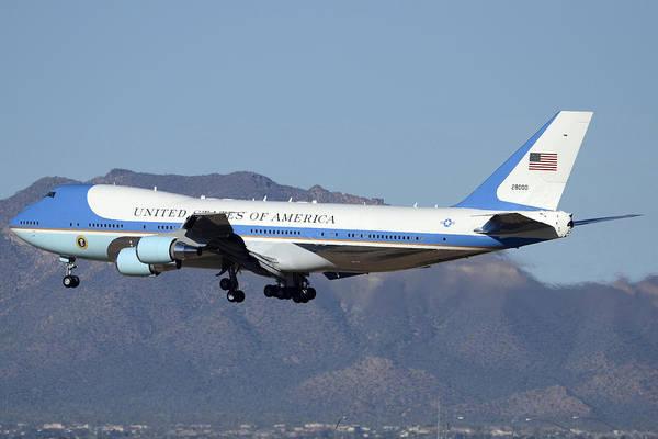 747 Photograph - Boeing Vc-25a 82-8000 Air Force One Phoenix-mesa Gateway Airport January 25 2012 by Brian Lockett