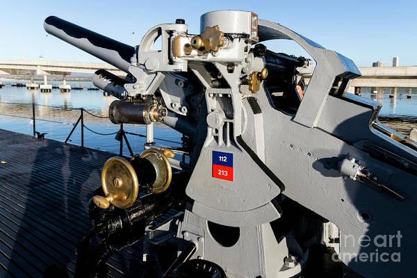 Uss Bowfin Photograph - Bofors Gun by Jon Burch Photography