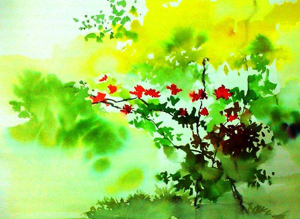 Painting - Boganwel by Anil Nene