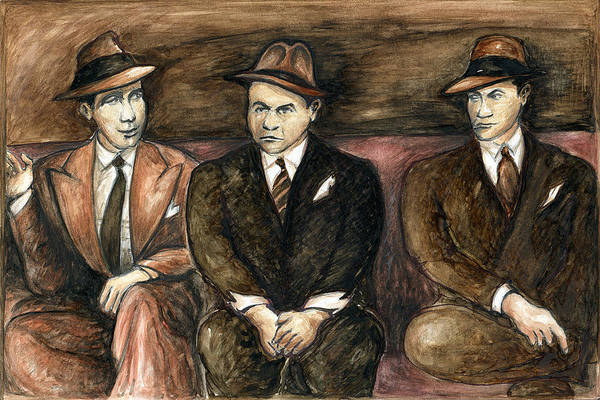 Painting - Bogart Gangster Movie - Watercolor by Peter Potter