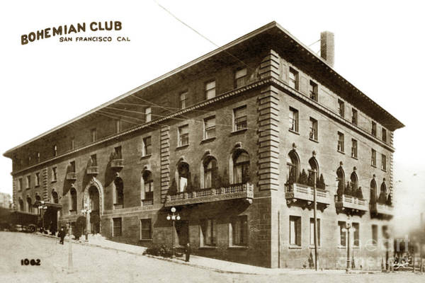 Photograph - Bohemian Club Building, San Francisco Circa 1900 by California Views Archives Mr Pat Hathaway Archives