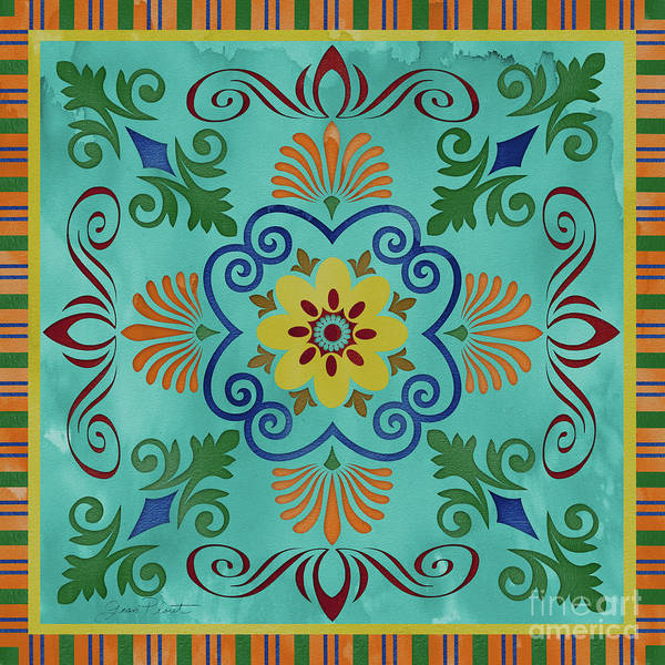 Medallion Wall Art - Painting - Bohemian Medallion-a by Jean Plout