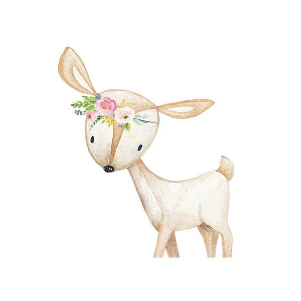 Custom Digital Art - Boho Deer - Custom Order by Pink Forest Cafe