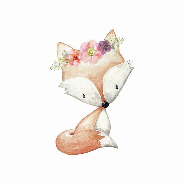 Custom Digital Art - Boho Fox 1 - Custom Order by Pink Forest Cafe