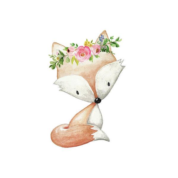 Animal Digital Art - Boho Fox 2 - Custom Order by Pink Forest Cafe
