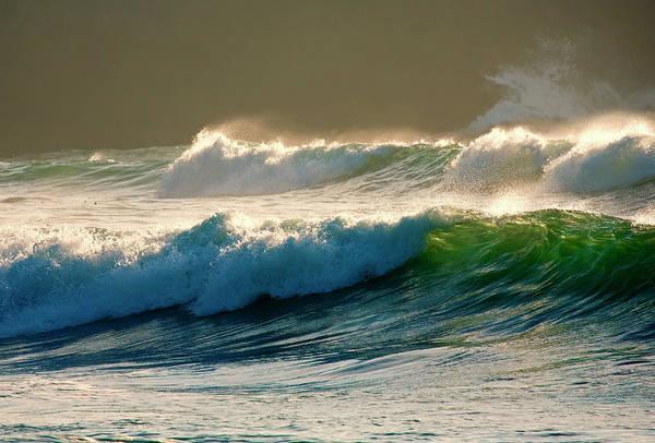 Boiler Bay Waves Rolling Art Print