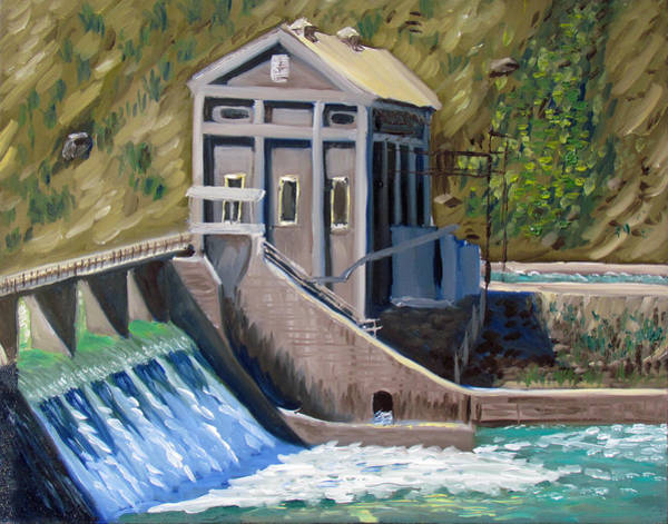 Painting - Boise Diversion Dam by Kevin Hughes