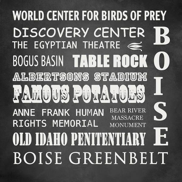 Rockies Digital Art - Boise Famous Landmarks by Patricia Lintner