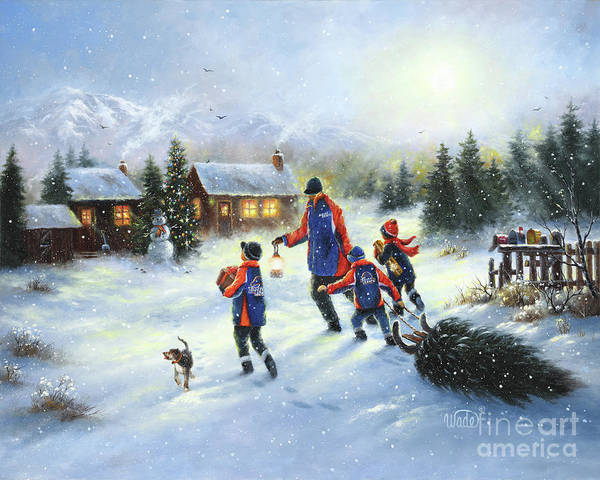 Wall Art - Painting - Boise Christmas by Vickie Wade