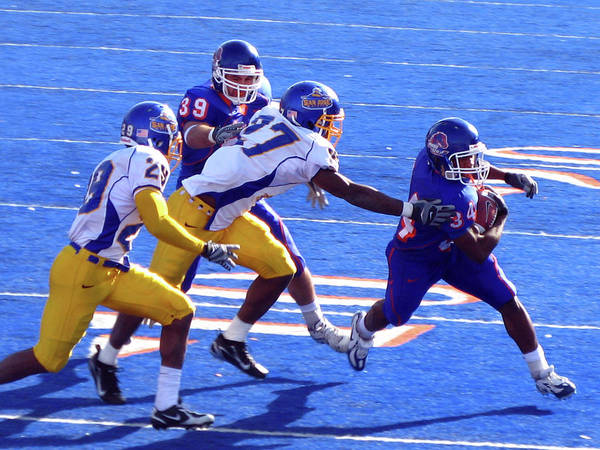 Photograph - Boise State Football by Lost River Photography