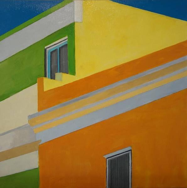 Painting - Bokaap Green by Jillian Goldberg