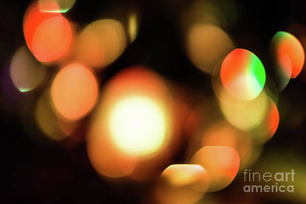 Photograph - Bokeh Lights Background by Benny Marty