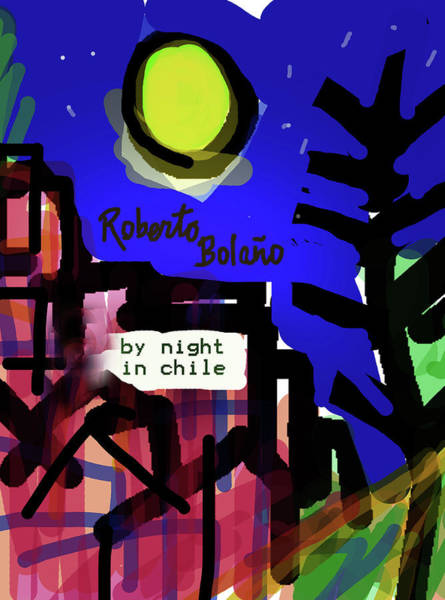 Drawing - Bolano By Night In Chile Poster  by Paul Sutcliffe