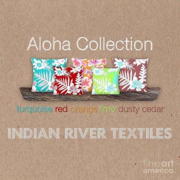 Digital Art - Bold Aloha Pillow Collection by Karen Dyson