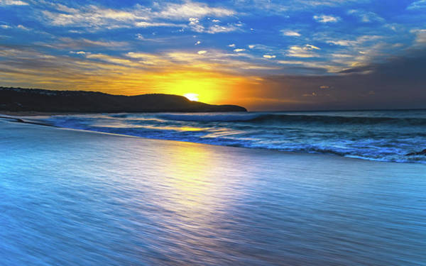 Killcare Photograph - Bold And Blue Sunrise Seascape by Merrillie Redden